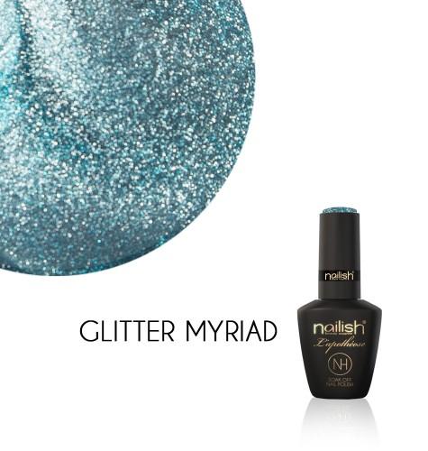 Oja Semipermanenta Glitter Myriad, Oja Semipermanenta Glitter Blueberry Star