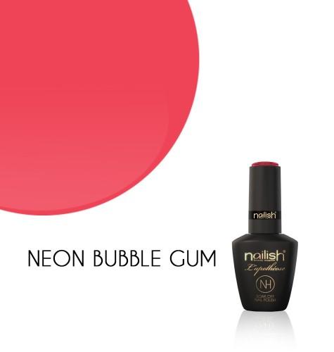 Oja Semipermanenta Neon Bubble Gum, Oje Semipermanente Neon