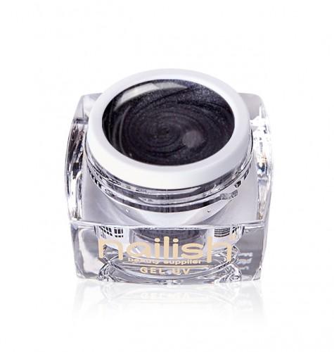 Gel Glitter Pearly Black, Gel Glitter Crystal Joy UV LED Manichiura Unghii