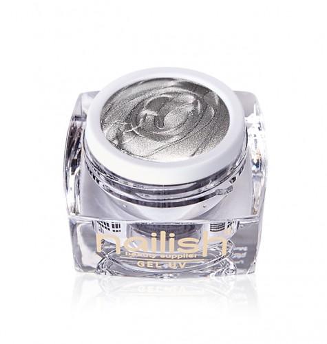Gel Glitter Light Silver, Gel Glitter Metallic Fig