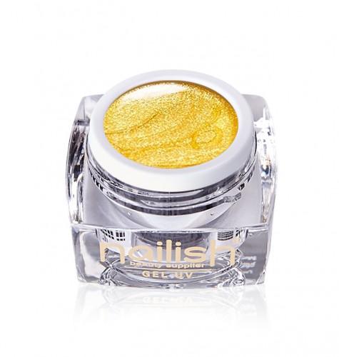 Gel Glitter Yellow Fine, Gel Glitter Crystal Joy UV LED Manichiura Unghii