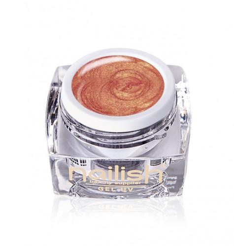 Gel Paint Rose Gold, Gel Paint Art Style Natural UV LED Manichiura Unghii