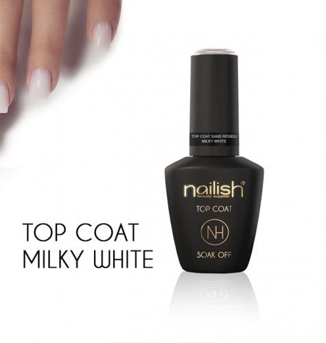 Top Coat Soak Off Milky White, Geluri de sigilare, Gel Finish unghii