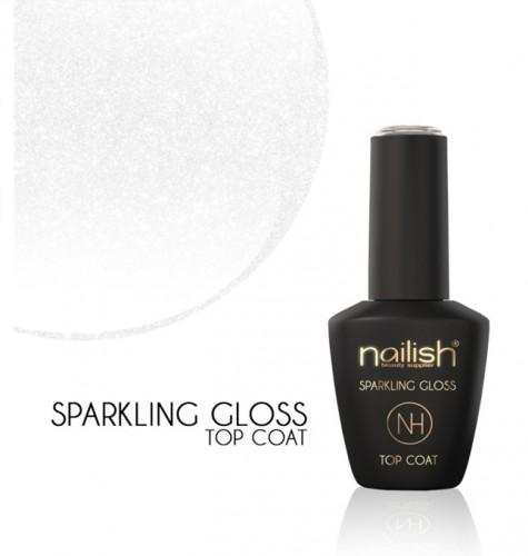 Top Coat Sparkling Gloss, Geluri de sigilare, Gel Finish unghii