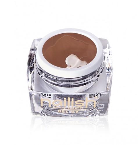 Gel Paint Art Style Brown, Gel Paint Art Style Natural UV LED Manichiura Unghii