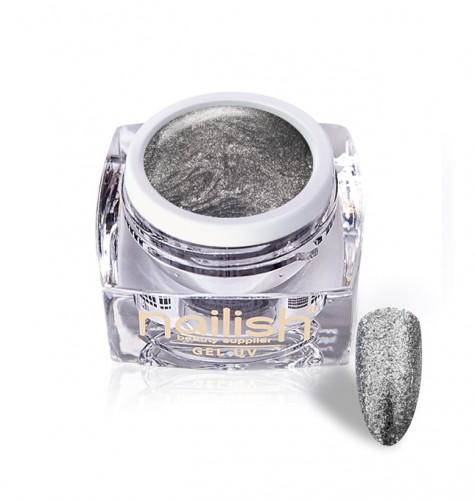 Gel Glitter Luxury Light Silver, Gel Glitter, Geluiri Glitter, Gel Uv Glitter