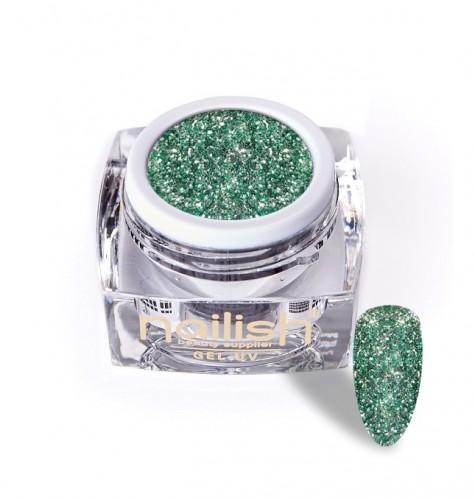 Gel Glitter Luxury Green Diamond, Gel Glitter Milky
