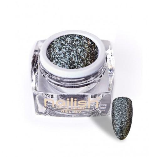 Gel Glitter Luxury Dark Silver, Gel Glitter Turquoise