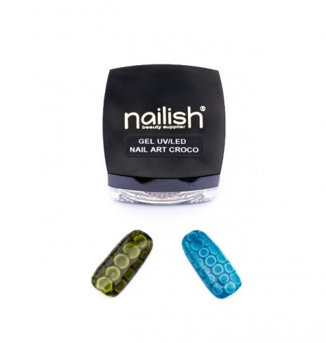 Gel Nail Art Croco, Nailish Gel Uv, Oja Semipermanenta, Manichiura, Unghii False