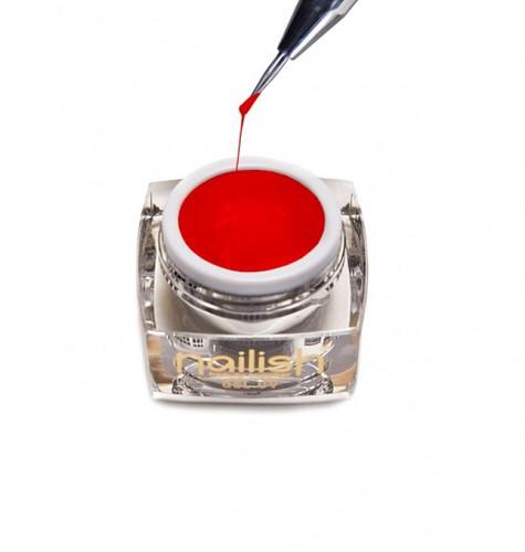 Gel Nail Art Spider Red, Nail Art