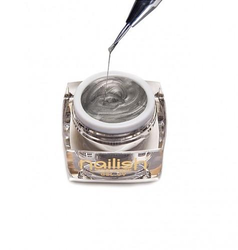 Gel Nail Art Spider Silver, Nail Art