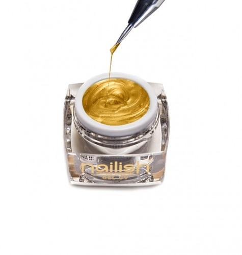 Gel Nail Art Spider Gold, Nail Art