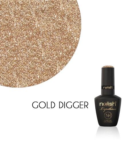 Oja Semipermanenta Glitter Gold Digger, Oja Semipermanenta Glitter Blueberry Star