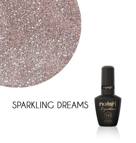 Oja Semipermanenta Glitter Sparkling Dreams, Oja Semipermanenta Glitter Blueberry Star