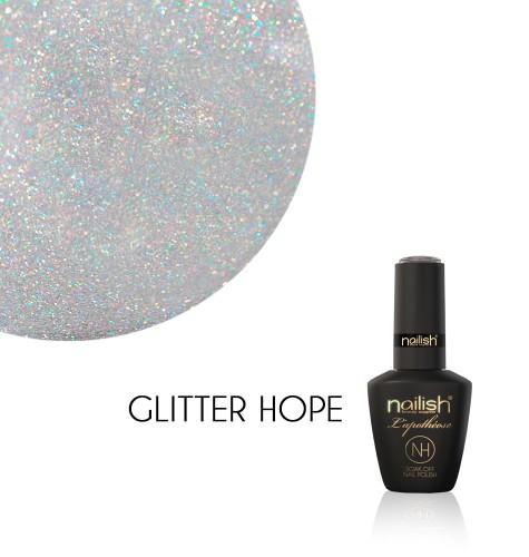 Oja Semipermanenta Glitter Hope, Oja Semipermanenta Sparkling Gray
