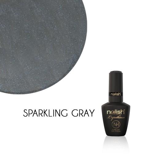 Oja Semipermanenta Sparkling Gray, Oja Semipermanenta Glitter Class