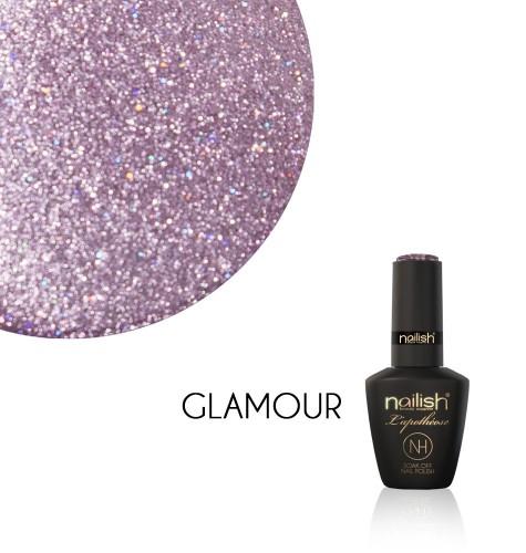 Oja Semipermanenta Glitter Glamour, Oja Semipermanenta Sparkling Gray